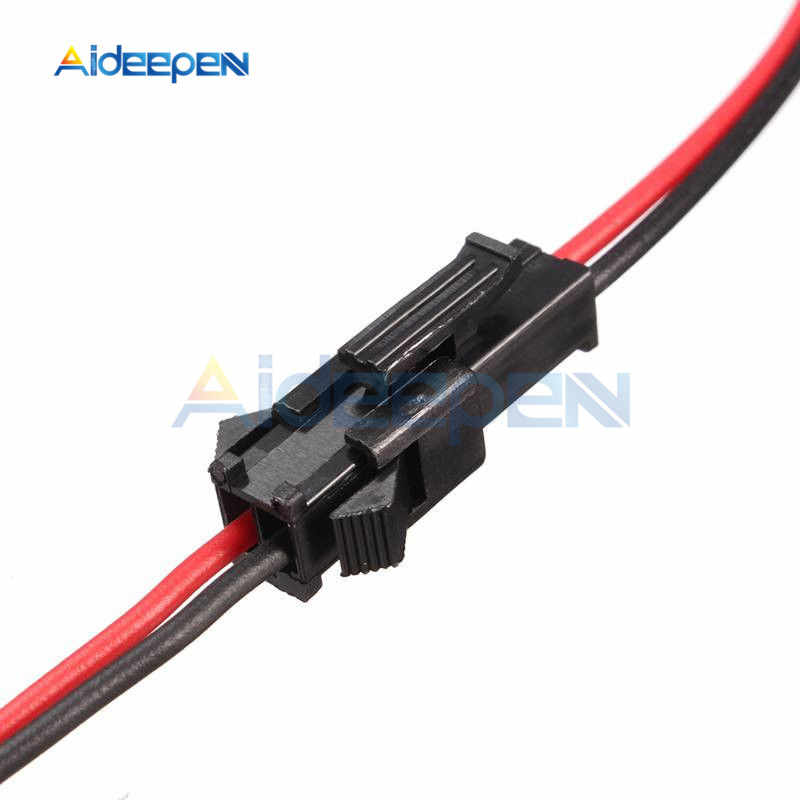 1 pair 15cm Long SM 2Pins Plug Male to Female Wire Connector Adapter Black Red