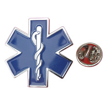 Estrella de la vida solapa Pin insignia símbolo médico broche Caduceus ambulancia