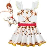 Dzieci Elsa Anna Kopciuszek Sleeping Beauty Sofia Party Dress Dziewczyny Księżniczka Sukienki Dzieci Balet Dziewczyna Cosplay Costume Odzież