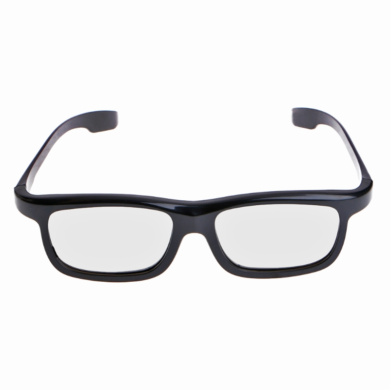 Circular Polarized Passive 3D Stereo Glasses Black RD3 For TV Real D 3D Cinemas L15
