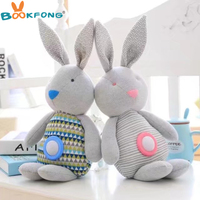 48CM Cartoon Rabbit Plush Toy Doll Super Soft Baby Appease Musical Rabbit Toy High Quality Gift for Kids
