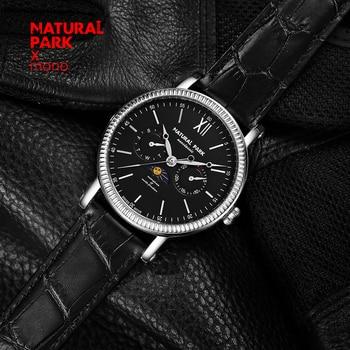 NATURAL PARK Watches Men Luxury Brand Multifunction Quartz Men Sport Watch Moon Phase Dive 30m Casual Watch Relogio Masculino