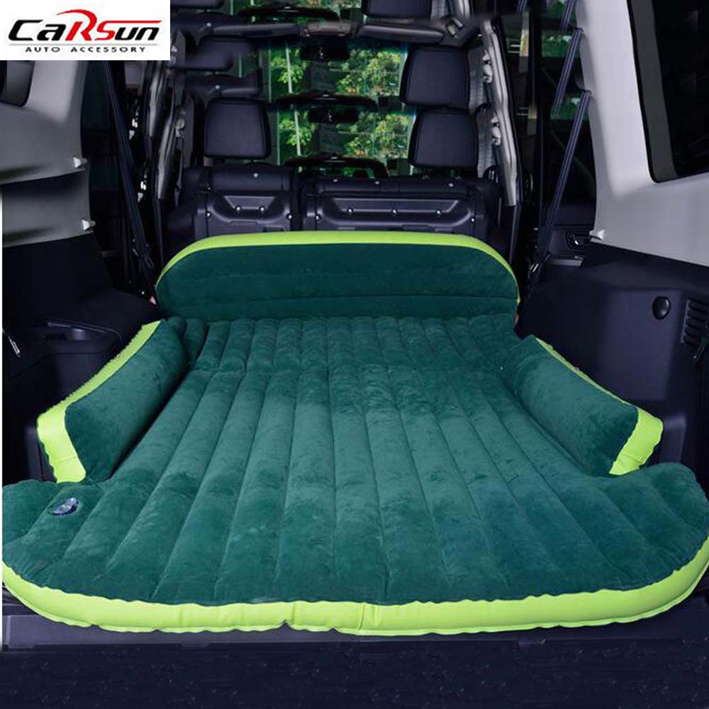 Car Air Inflated Bed Car Styling Camping Travel Seat Cover Cushion Bed with Air Pump&Repair Kit Portable SUV Mattress for Lovers betos car air mattress travel bed auto back seat cover inflatable mattress air bed good quality inflatable car bed for camping