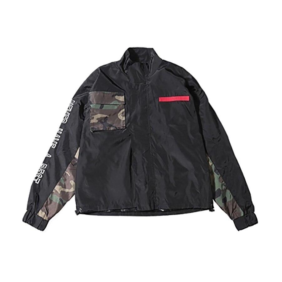 Camouflage Hombre Entraîneurs Mens Patchwork Streetwear Campera Hip Hommes Zipper As Vintage vent Picture Coupe Hop 5jk58 Veste Militaire w6AwCqz