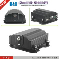 4 Channel Full D1 HDD Mobile DVR Digital Video Record Real Time For School Bus Black Car DVR With 3G Function