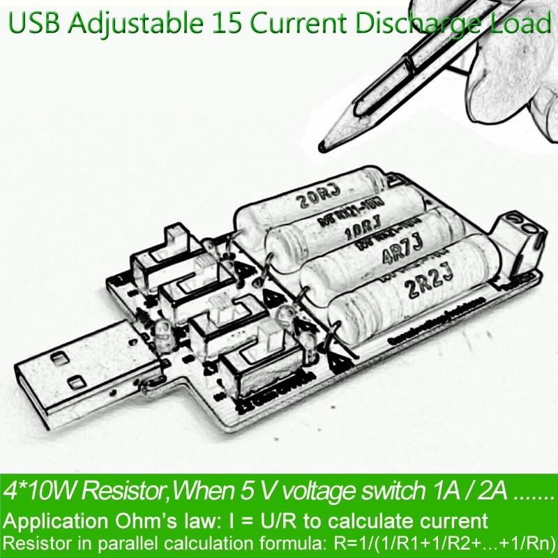 usb dc carga electrónica Resistencia de resistencia de descarga de - Instrumentos de medición - foto 5