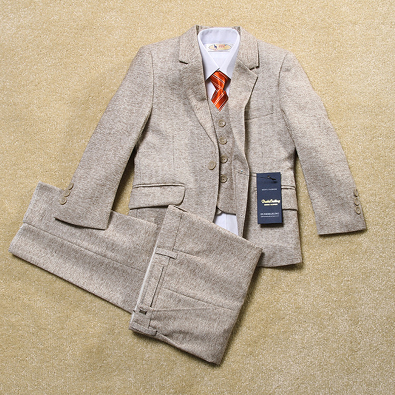 Quality  fashion baby kids boys children blazers suits boys suits for weddings formal Light color wedding suit flower boy dress 5pcs high quality 2016 baby boys kids blazers boy suit for weddings prom formal sequin dress wedding performance clothing suits