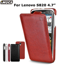 Lenovo s820 case lenovo s820 cover luxury flip leather case iMUCA Original mobile phone accessories bag capa