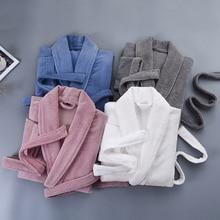 Winter New Bathrobe women Thick Cotton long Lady Robe Kimono Nightgown Warm Long Sleeve Sleepwear Bath Night Gown
