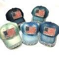 США Соединенные Штаты Америки флаг бейсболки регулируемые джинсы горный хрусталь мужчины женщины snapback hat cap