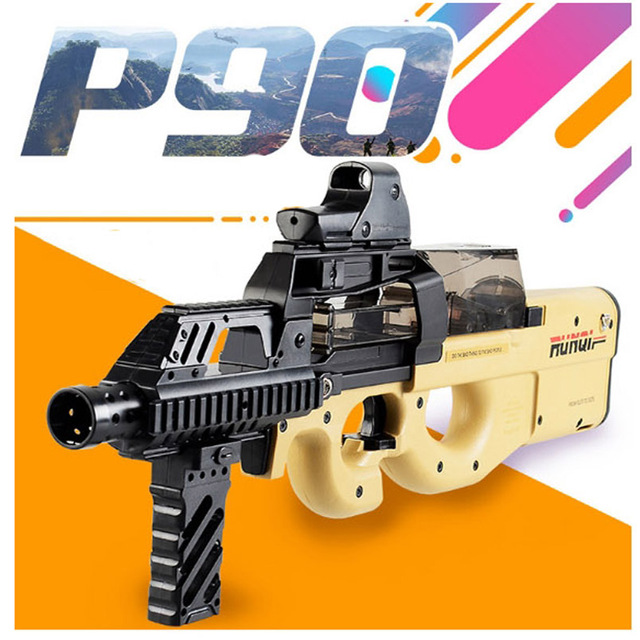 Cool Stuff P90 Electric Auto Toy Gun Graffiti Edition Live CS Assault Snipe Weapon Water Bullet Bursts Gun Funny Outdoor Pistol Toys 1