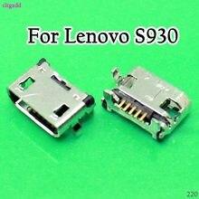 10X Micro USB carga 5p conector jack para Lenovo A10-70 A370E A3000 A3000H A5000 A7600 A7600H S910 S930 de sincronización de datos de toma de