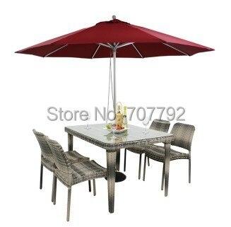 Outdoor Rattan Patio Furniture Dining Durable Outdoor Set(China (Mainland))