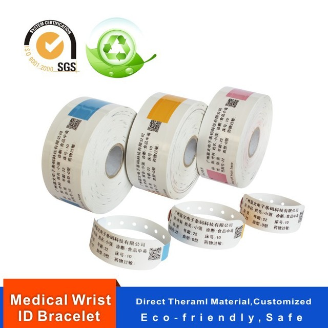 Hospital Identification Bands Patient Id Band Direct Thermal Medical Wrist Bracelet Water