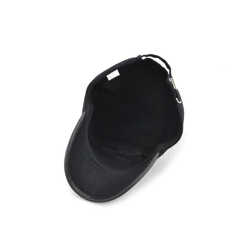 Fashion Summer Sun Hats For Men Women Casual Cotton Beret Caps Gorras Planas Boinas Flat Cap Adjustable Male Berets Work Caps