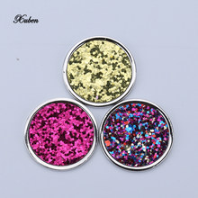 Color sequin 33mm coin disc pendant necklace fit 35mm Coin holder frame necklaces for Women Christmas gift(China)