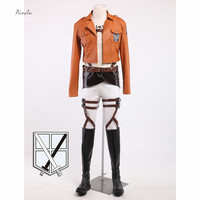 Ainc Customize for adults New Attack On Titan Cosplay Shingeki No Kyojin Armin Arlart Short Leather Jacket For Halloween Costume