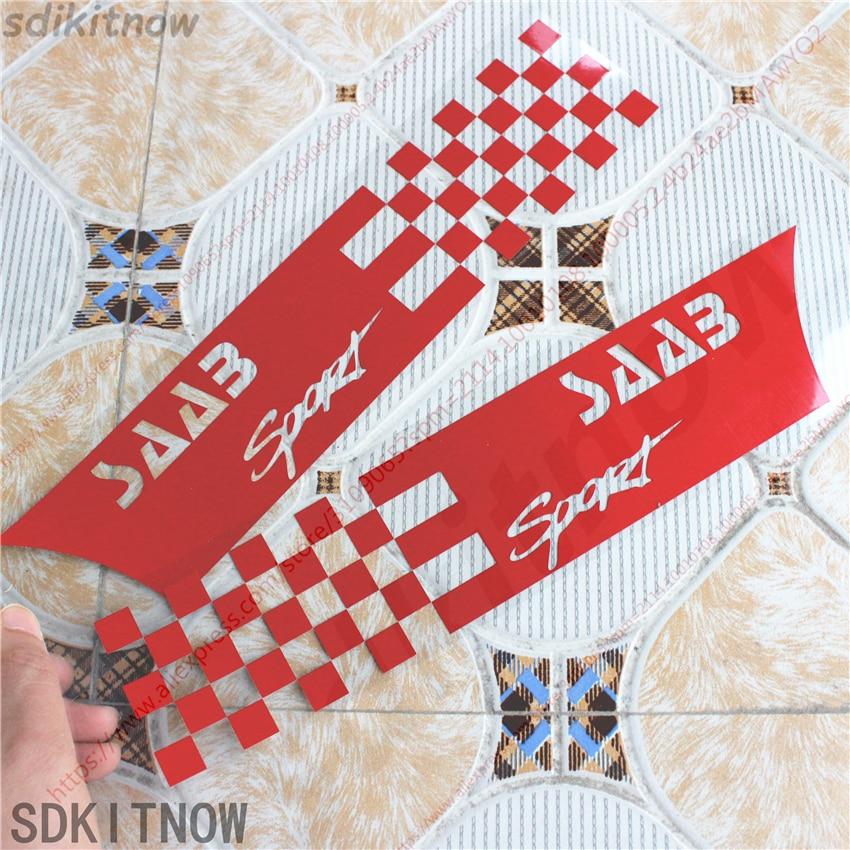 SAAB 9-3  93  Boot Rear Trunk Emblem 2Pin 68mm Badge 2003-2010 Carbon Fiber