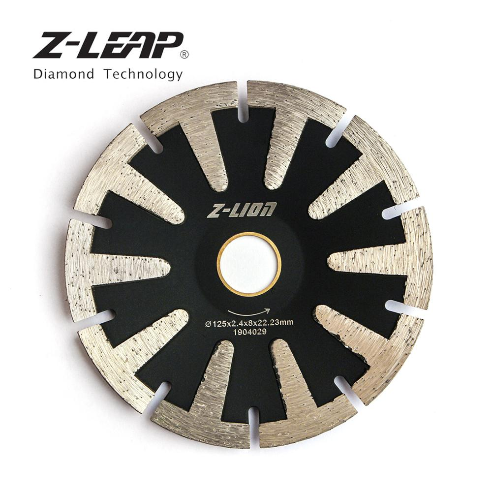 Z-LEAP 5 Inch Concave Curved Disc Diamond Saw Blade T-Segmented Turbo Rim Cutting Disc For Granite Marble Convex Diamond Tool