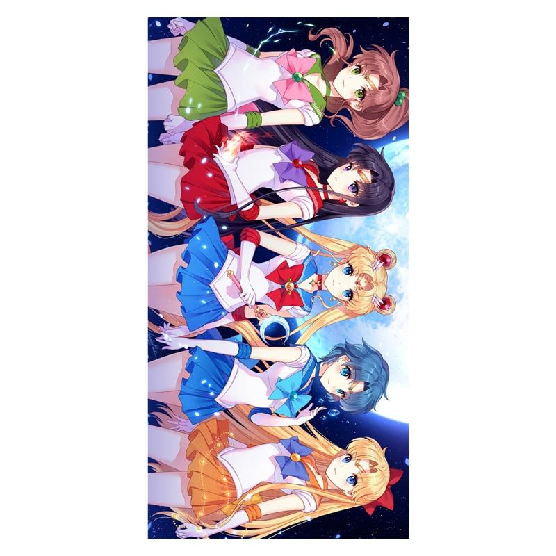 Diy 35 Cm X 70 Cm Panno Per Il Viso! Cartoon Anime Sailor Moon Modello Stampato Solf Di Bambù Asciugamano In Microfibra Per Il Bagno & Beach & Gym & Camping Uso