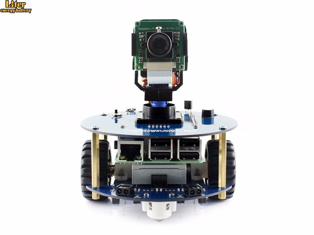 Robô com Original 3 Alphabot2 Kit Raspberry pi Modelo B e câmera Rpi b e controle Remoto Ir Auto Obstáculo Evitando