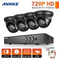 Annke 8ch 1080 p hdmi 720 p sistema de seguridad cctv dvr y (4) 720 P 1200TVL IR Exterior Impermeable DEL CCTV Cámaras de Vigilancia kit