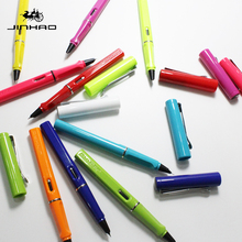 купить Jinhao 599A High Quality Plastic Fountain Pen 0.38mm Extra Fine Nib Ink Pens for Gift Office Stationery Supplies Free Shipping дешево