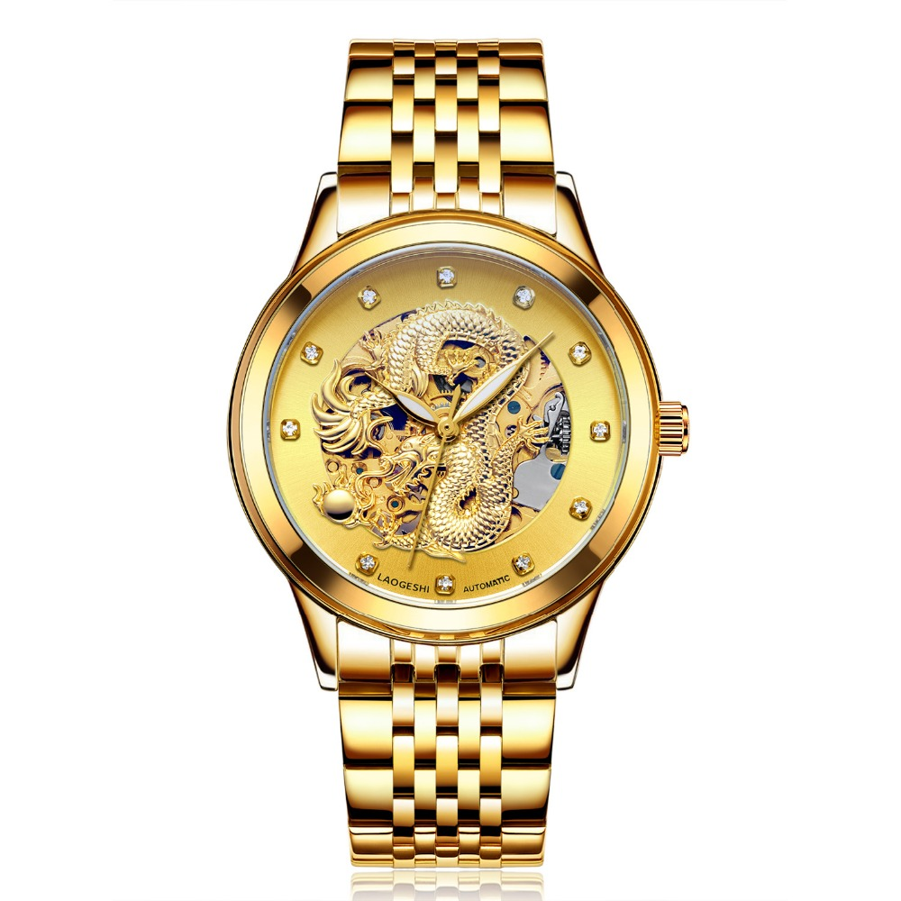 men watches new fashion automatic mechanical hollow full steel gold men clock carved alloy women watch Romantic Wedding for gift aimecor 2018 new men s stainless steel mechanical hollow out all luxury watch gold movement fashion men watch gift clock table