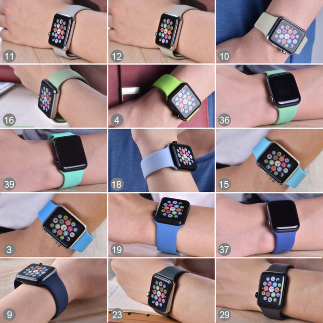 Colorful Silicone Band for Apple Watch 1