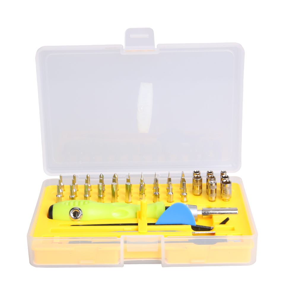 44 in 1 Precision Screwdriver Set Electronic Tweezers Extension Bar Pry Screwdriver Bits for Mobile Phone Watch Computer Repair