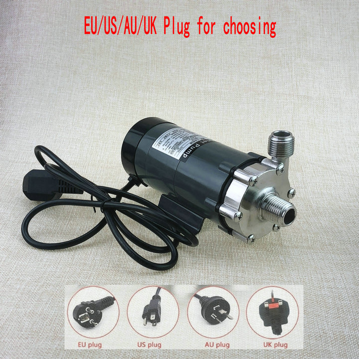 304 stainless head Magnetic Pump 15R ,beer <font><b>brewing</b></font> pump,High Temperature Resisting 140C beer Magnetic Drive Pump Home Brew