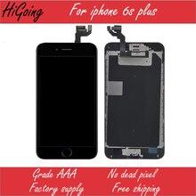 100% первоначально для iphone 6s plus сенсорный жк-экран замена digitizer ассамблеи + home button + камера + бесплатная доставка с отслеживанием