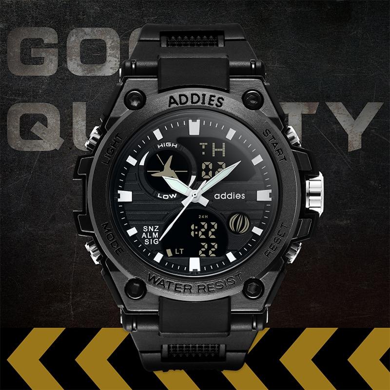 2019 New Style Military Men Sports Watches 50M Waterproof Luxury Sport Watch Men Quartz Digital watch Outdoor Diving Wristwatch in Digital Watches from Watches