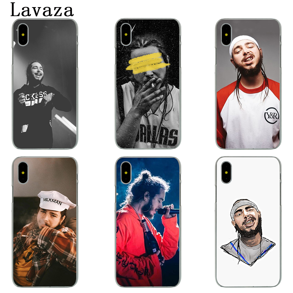 best website 818b5 52205 Lavaza Post Malone Hard Phone Case for Apple iPhone X 10 7 6 6s 8 Plus 4 4S  5 5S SE 5C Coque Shell Cover-in Half-wrapped Case from Cellphones & ...