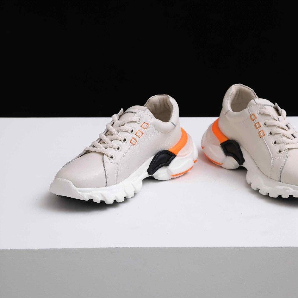 À D'été Krazing Pot Nouveau Taille noir L56 Rond Grande Mocassins Mélangée Cuir Couleur Bout Blanc Vulcanisées Beige Lacets Véritable Décontracté Chaussures Sneakers gyf76b