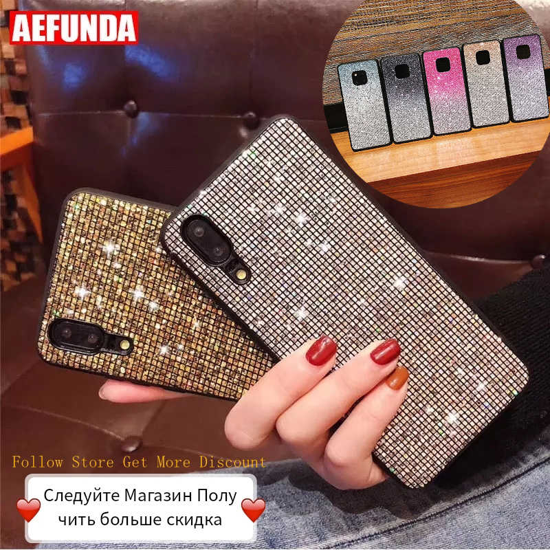 For Huawei P30 Mate 20 Pro Lite Case P Smart 2019 For Huawei P20 Pro Lite Case Honor 10 8X Cases Luxury Glitter Diamond Silicone