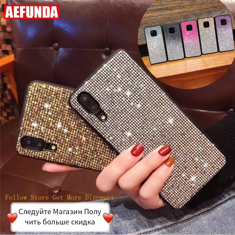 For Huawei P30 Mate 20 Pro Lite Case P Smart 2019 For Huawei P20 Pro Lite Case Honor 10 8X Cases Luxury Glitter Diamond Silicone image