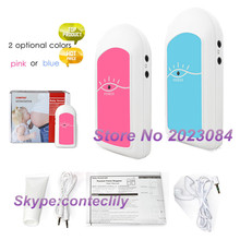 Детский звук CONTEC Карманный фетальный допплер для пренатального ребенка монитор сердцебиения розовый или синий
