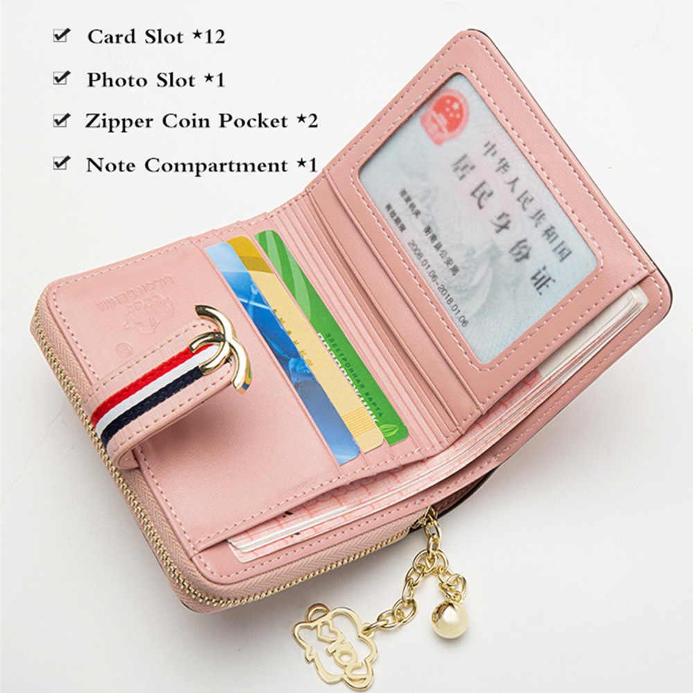 BISON джинсовый женский кошелек из натуральной кожи женский кошелек для монет на молнии Держатель для карт дорожный кошелек carteira feminina N3275