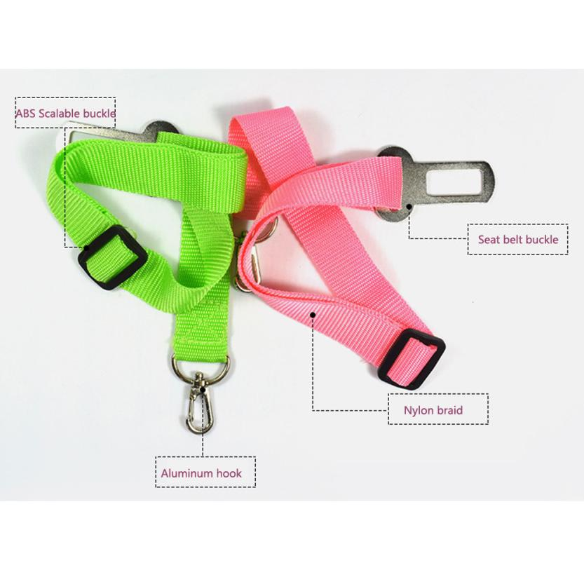 New Adjustable Dog Pet Car Safety Seat Belt Restraint Lead Travel Leash Pet Supplies Product #tx #4