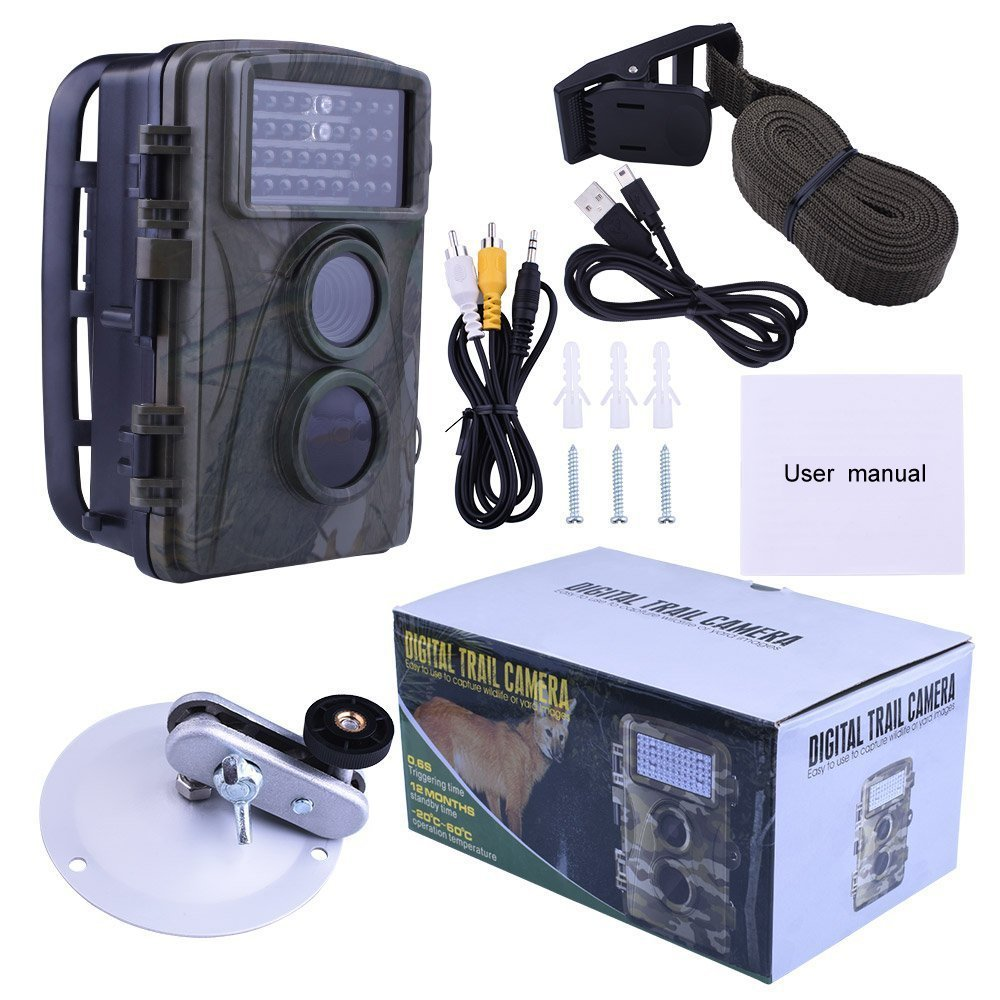 12MP 720P Hunting Camera H3 IP54 Waterproof Wild Trail Camera Infrared Night Vision Animal Observation Recorder 2