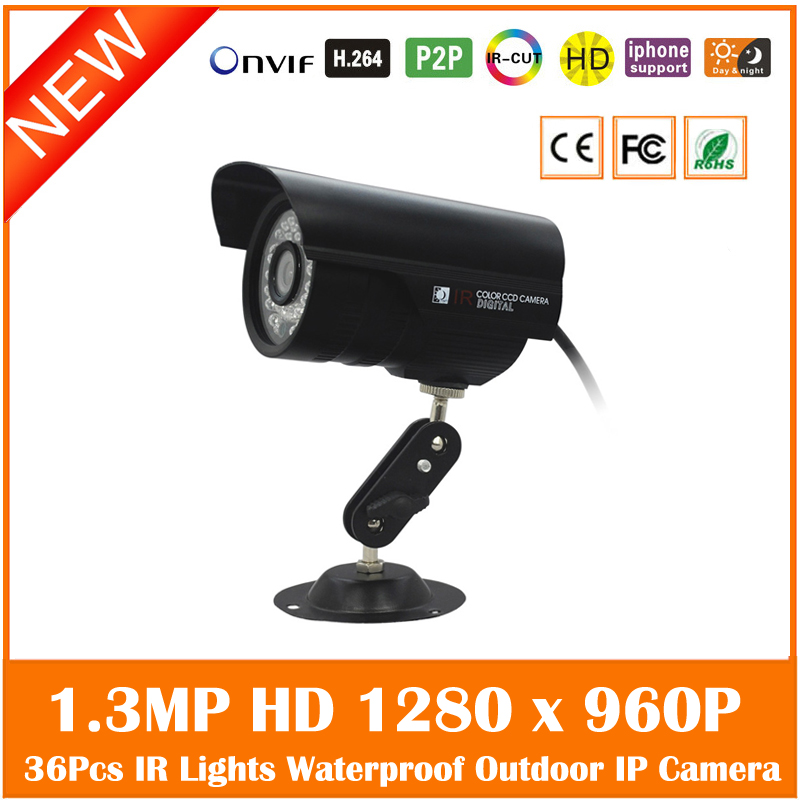 Hd Bullet Ip Camera 1.3mp 960p Outdoor Waterproof Infrared Night Vision Security Surveillance Cctv Mini Webcam Freeshipping jienuo ip camera 960p outdoor surveillance infrared cctv security system webcam waterproof video cam home p2p onvif 1280 960