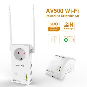 Wavlink AV500 Wireless WiFi Extender Powerline Kit Ethernet adapter PLC Homeplug AV Plug and Play IPTV Powerline network adapter
