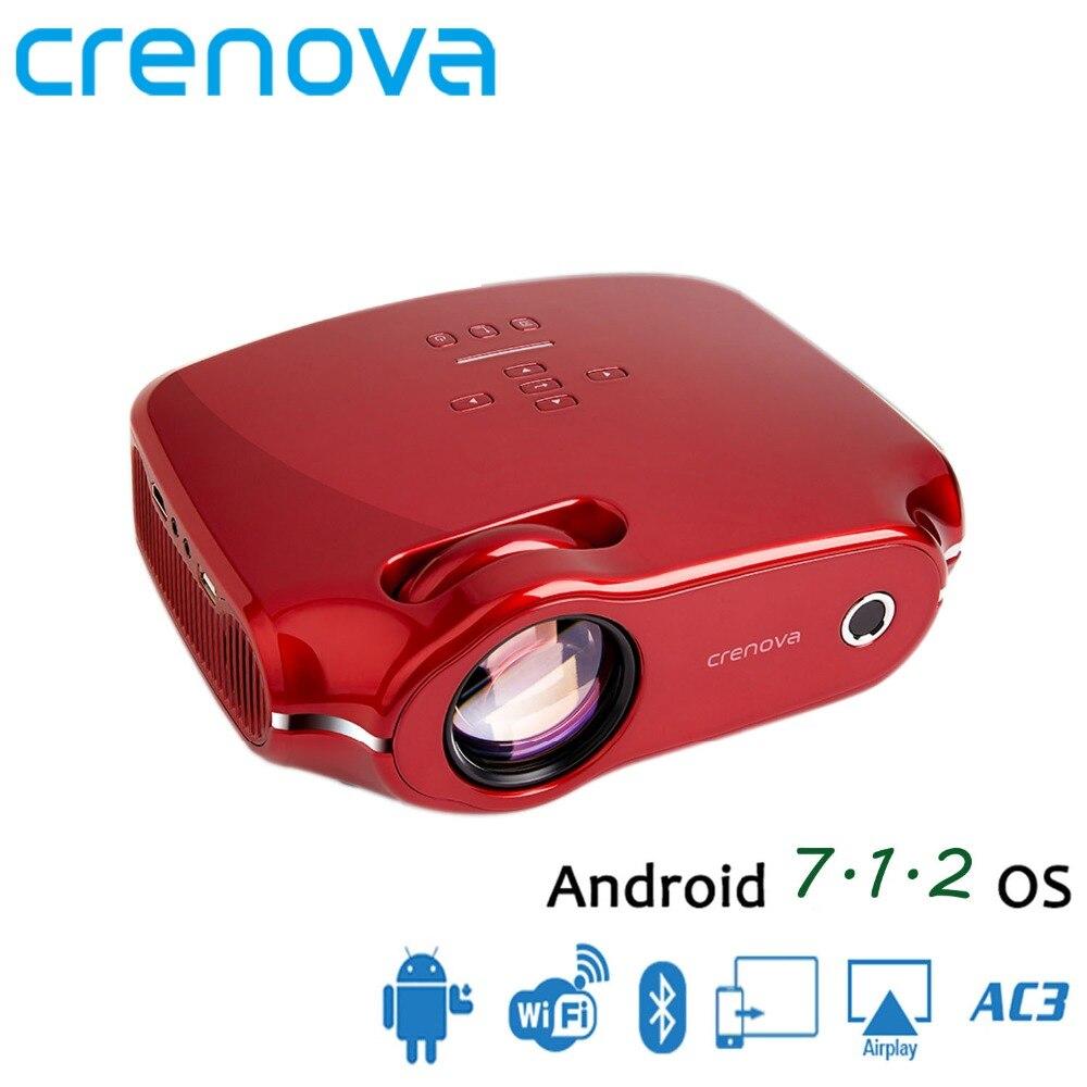 CRENOVA 2018 новейшая ОС Android 7,1 Видеопроектор для Full HD 4k дома Театр фильм проектор с WI-FI Bluetooth 3200 люмен