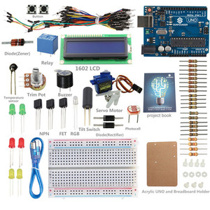SunFounder 12 Projects Kit for Beginners to Learn Arduino LCD 1602 Starter Kit V2.0 for Arduino with Sunfounder UNO R3 Board