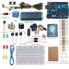 Arduino Başlayanlar Öğrenmek için SunFounder 12 Projeler Kiti LCD 1602 Sunfounder UNO R3 Starter Kit ile Arduino için V2.0 kurulu
