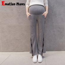 Emotion Moms Autumn Maternity Pants High Waist Belly Casual Clothes for Pregnant Women Pregnancy Trousers