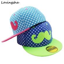 LOVINGSHA Unisex Kids Adjustable For 3-8 Years Old Children Canvas Beard Hip-Hop Baseball Caps Boys Girls Snapback Cap C-5