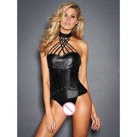S XXL Halter Black Sexy Corset Bustier Plus Size High Quality Women Fashion Bondage Teddies Lingerie Lady Lace Up Shaperwear