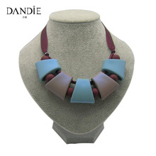 Dandie Fashion Jewelry Women Necklace Statement Rubber Beads